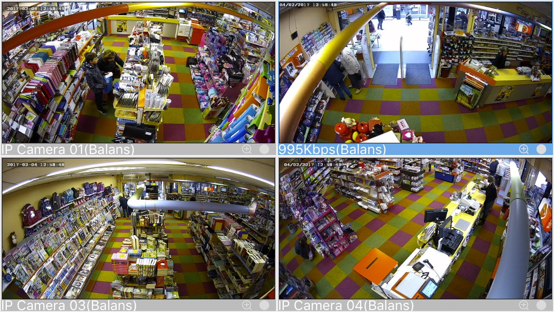 de zeer scherpe 2Mp IP dome camera's.