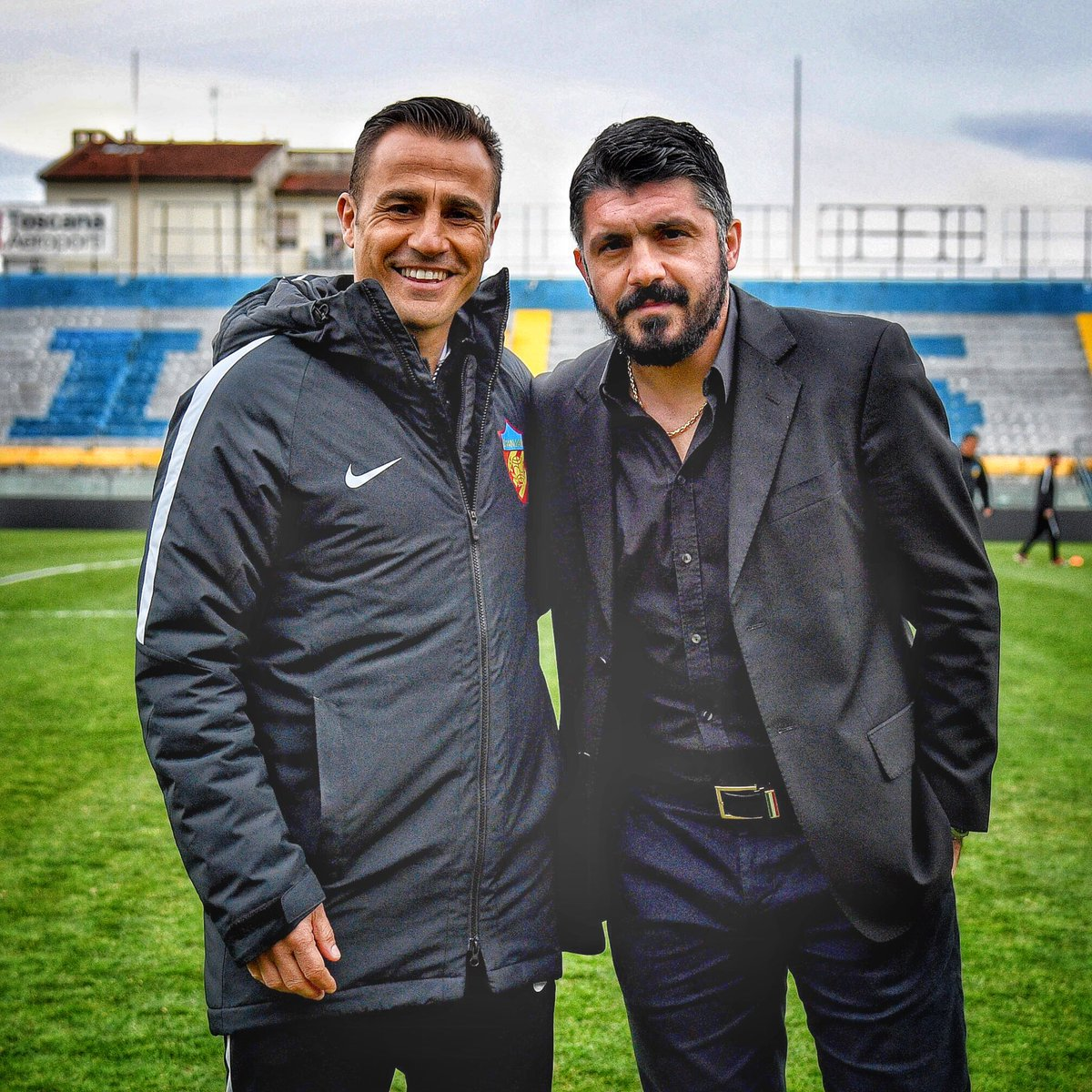 "Fabio Cannavaro on Twitter ""2 World Champions in Pisa"