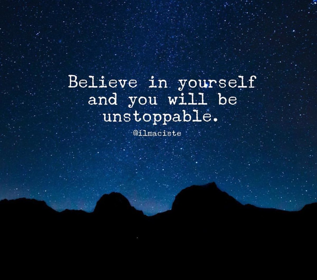 Believe in yourself &amp; YOU will be unstoppable. #motivation #spdc #SuccessTRAIN @BruceVH @DavidKWilliams @Audio212<br>http://pic.twitter.com/80xL0qZB3y