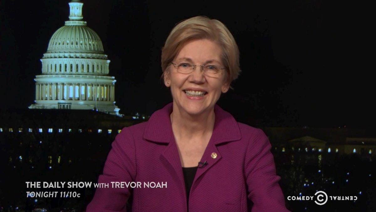 Tonight at 11/10c, Trevor discusses the Senate's rebuke of Sen. Elizabeth Warren with @SenWarren herself.