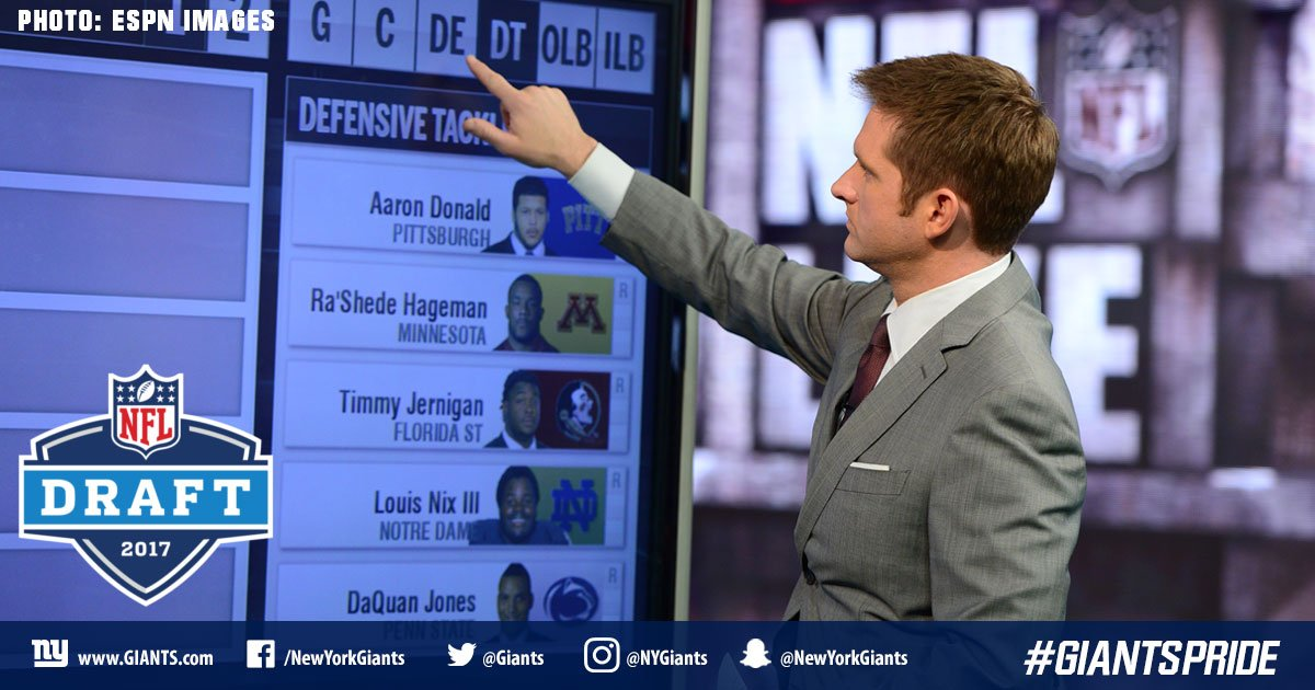 In his latest NFL mock draft, @McShay13 has the #Giants going defense with the 23rd selection.  PICK:  http:// bit.ly/2lnWOxd  &nbsp;  <br>http://pic.twitter.com/CGXDJl7nTU