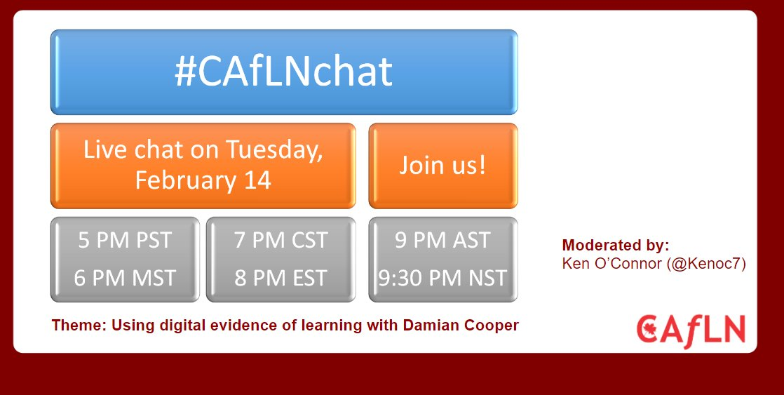 Announcing the next #caflnchat https://t.co/fpBF50rh4k