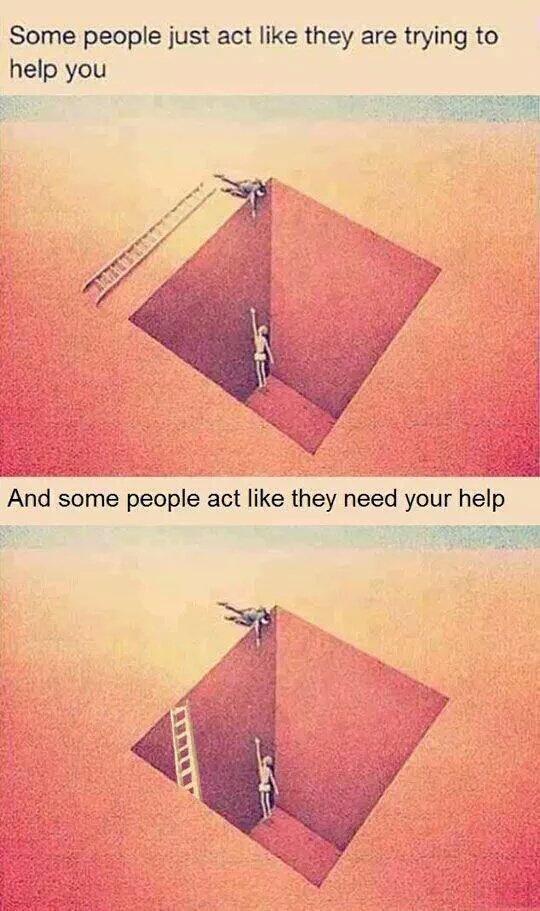 &quot;Unos sólo actúan como si te estuvieran ayudando... y algunos actúan como si necesitaran tu ayuda&quot; #actuar #actitud<br>http://pic.twitter.com/IPc5CFsvZy