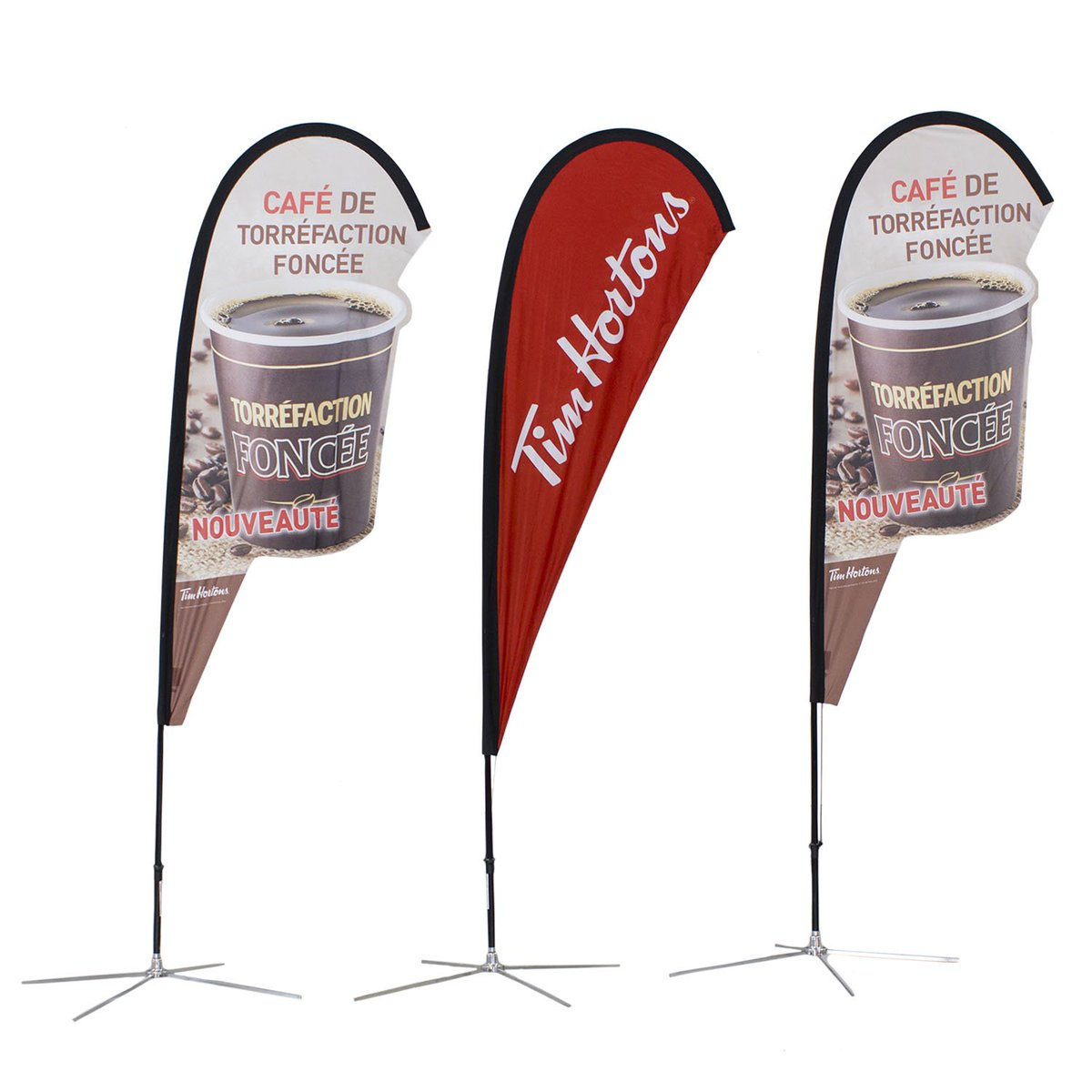 Check out our @TimHortons Flags we did! #softsigns #flags