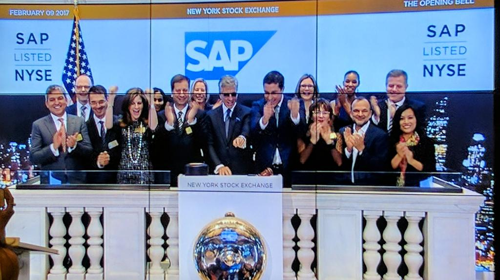 Yep - it is @SAP #CapitalMarkets day ... ringing the bell @NYSE #S4HANACloudUpdate https://t.co/P51DLRsFAF