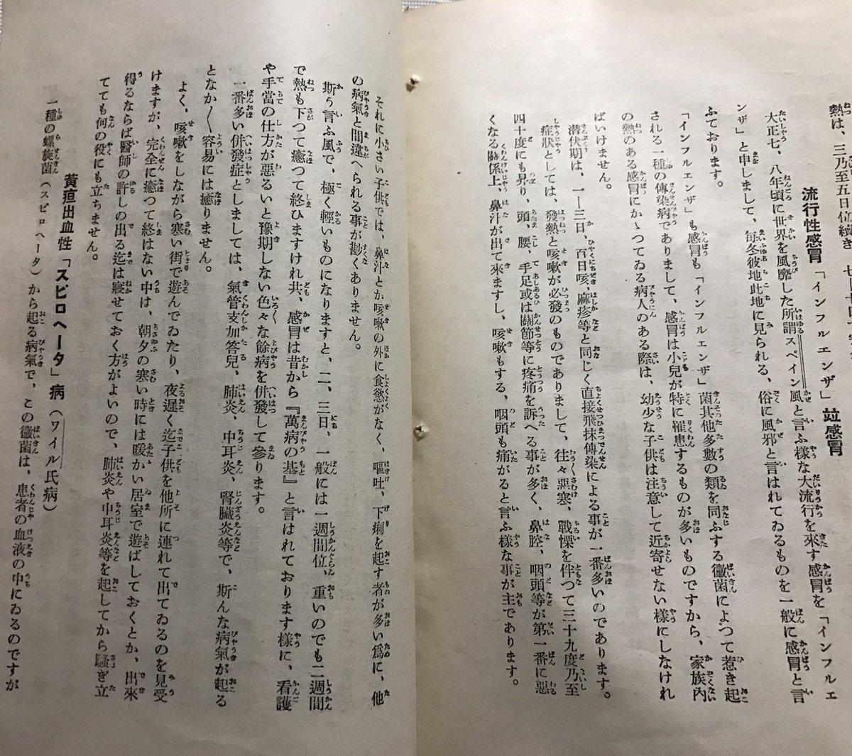 戦前の小児感染症についての本。 写真2枚目を見て欲しい。日本での1年間の死亡者数、全体数と5歳までの…