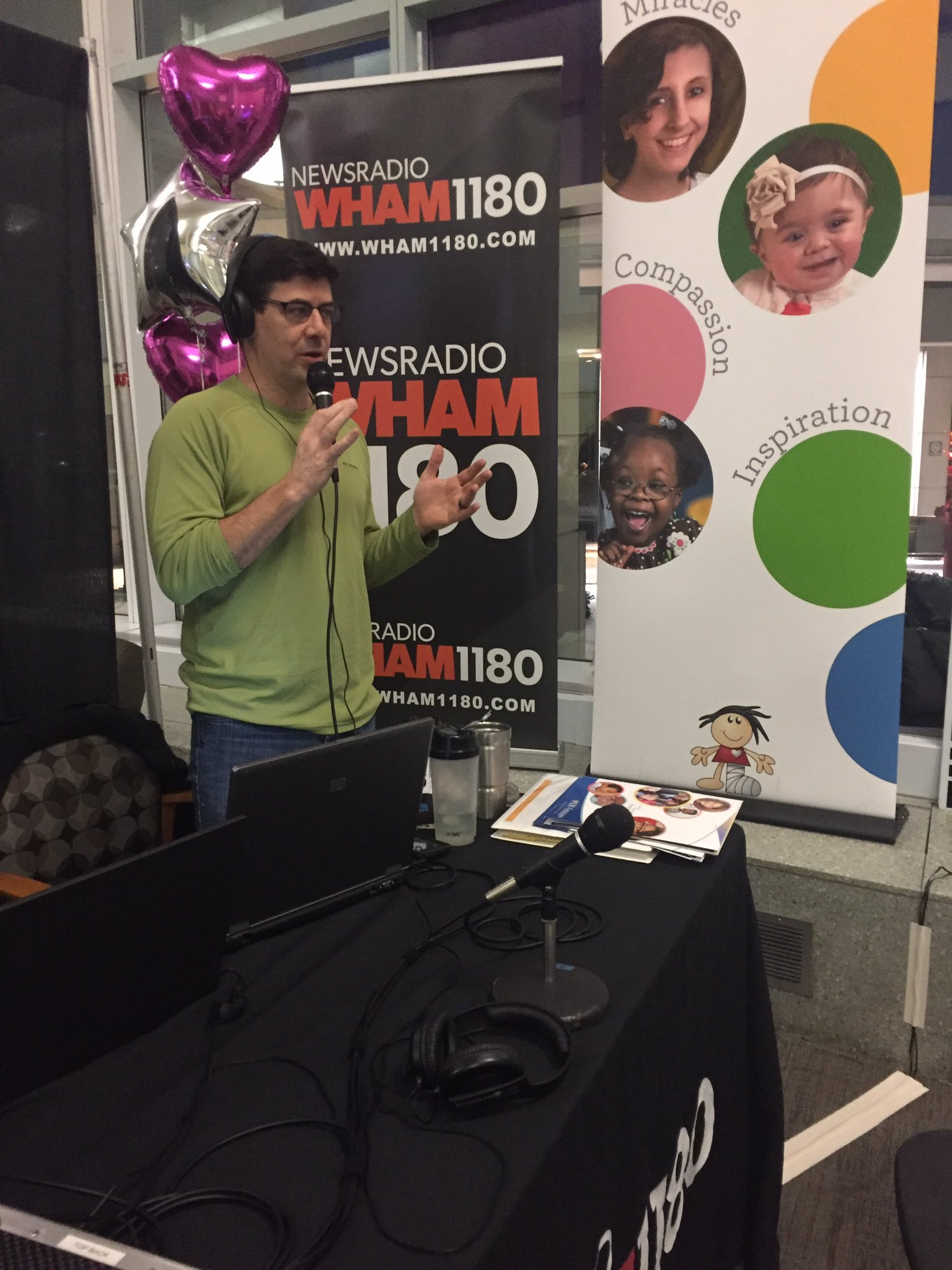 .@billmoranradio is LIVE from lobby of @URMed_GCH for #DriveForMiracles - Call 241 - 5437 to become a miracle maker! https://t.co/uNxuGEZRiD