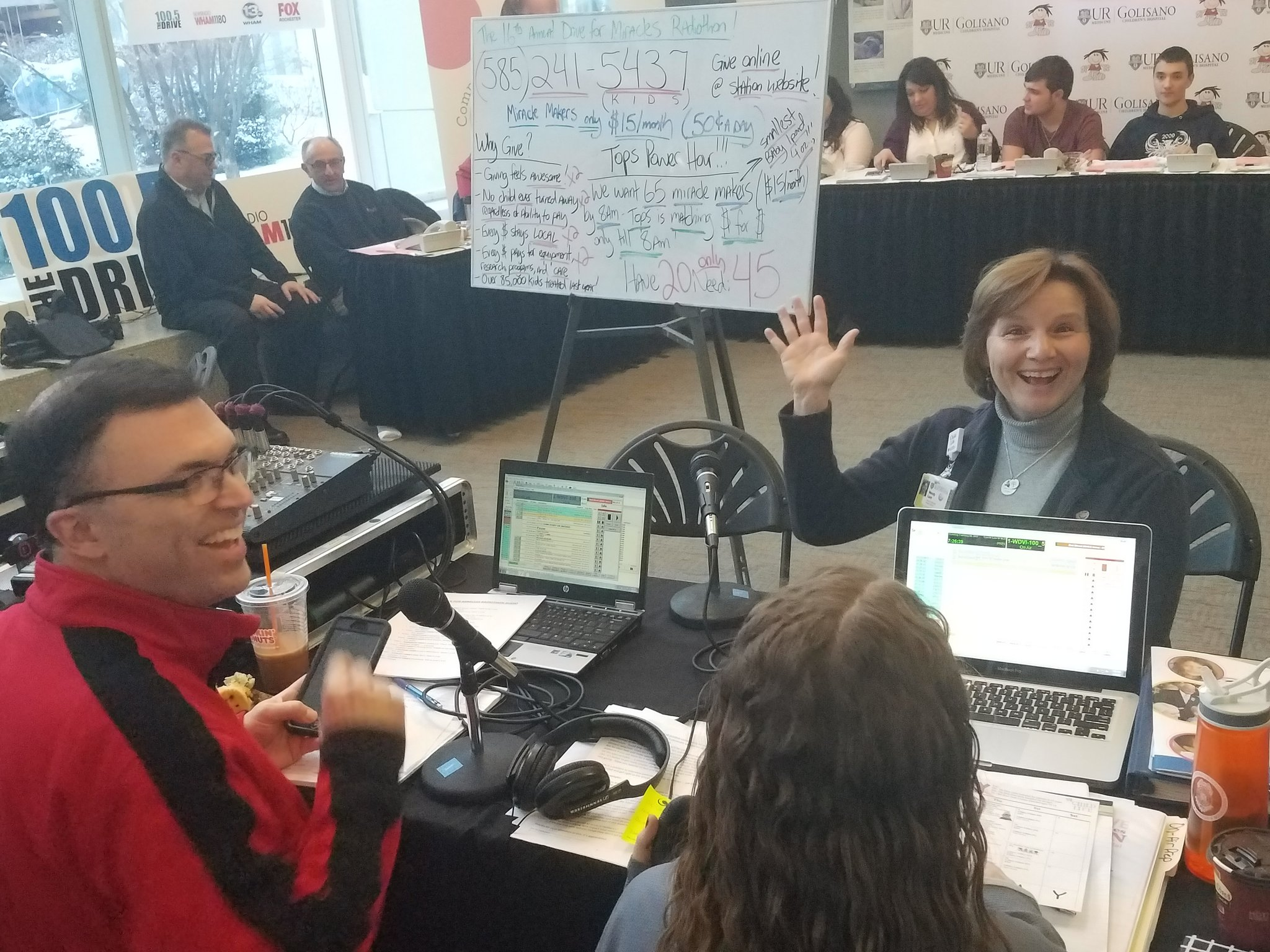 On @1005THEDRIVE right now: Child Life's Wendy Lane! Tune in - still half an hour left in the @TopsMarkets donation MATCH! #DriveForMiracles https://t.co/SRLxPFwULX