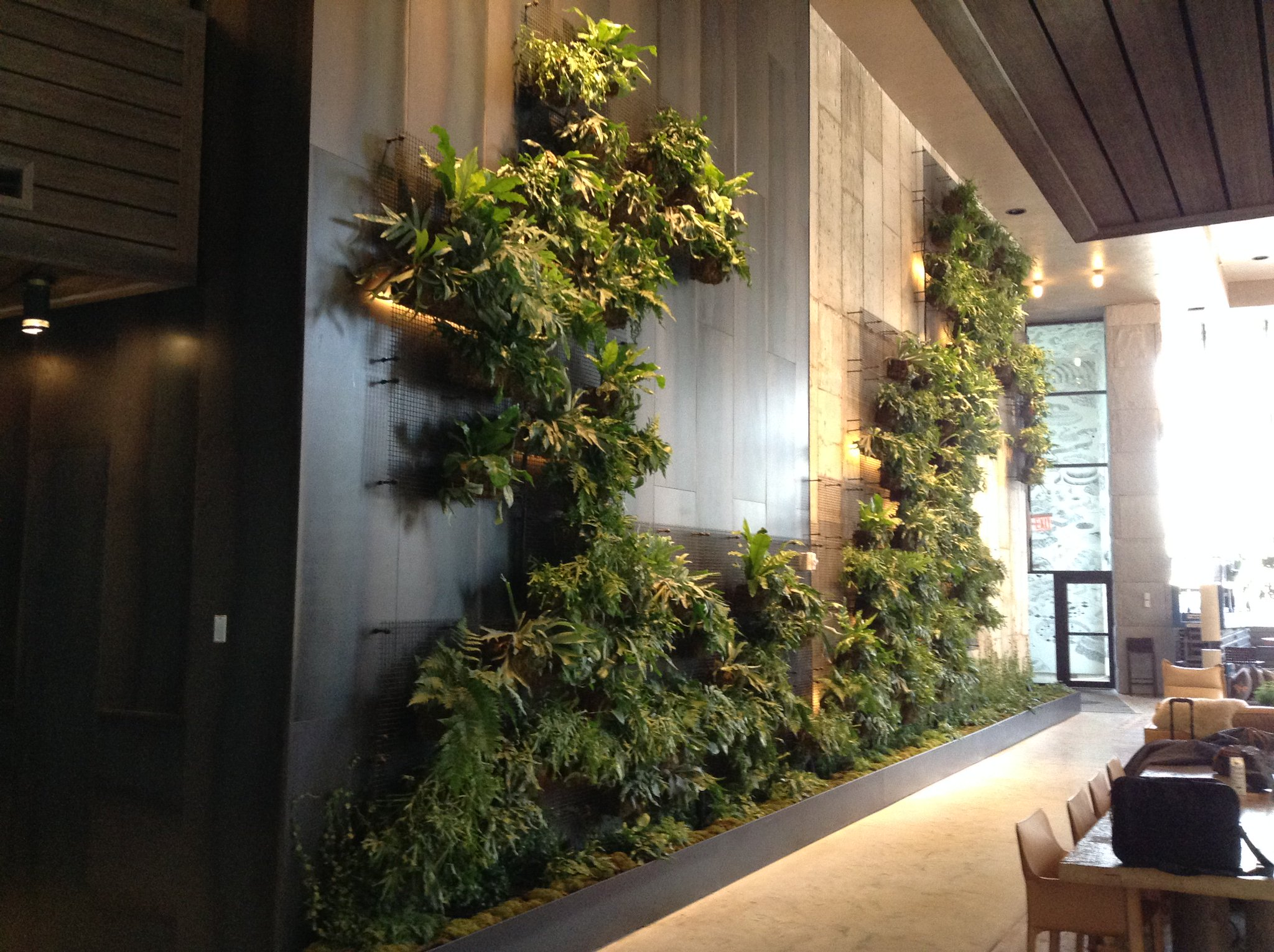 Agroscigreenwalls On Twitter Green Wall At 1 Hotel Brooklyn Bridge Is Done Kudos To Harrison