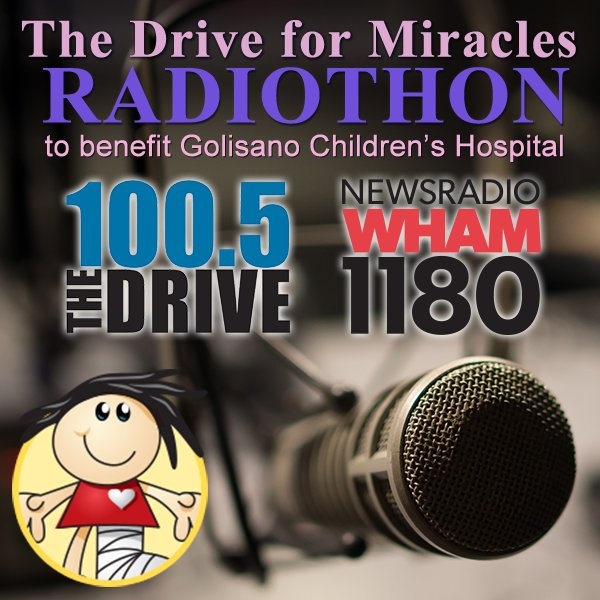 #DriveForMiracles trending in Rochester! Awesome, thank you for making miracles happen. @URMed_GCH @WHAM1180 @1005TheDrive @13WHAM https://t.co/cv8HOcUi5U