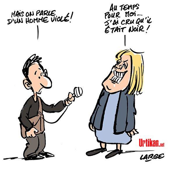 #MarineLePen ne condamne pas les #ViolencesPolicieres contre #Theo à #aulnaysousbois #FN #DessinDuJour de @marclarge  http://www. urtikan.net/dessin-du-jour /marine-le-pen-ne-condamne-pas-les-violences-policieres-contre-theo-a-aulnay-sous-bois/ &nbsp; … <br>http://pic.twitter.com/CC6jttOQX9