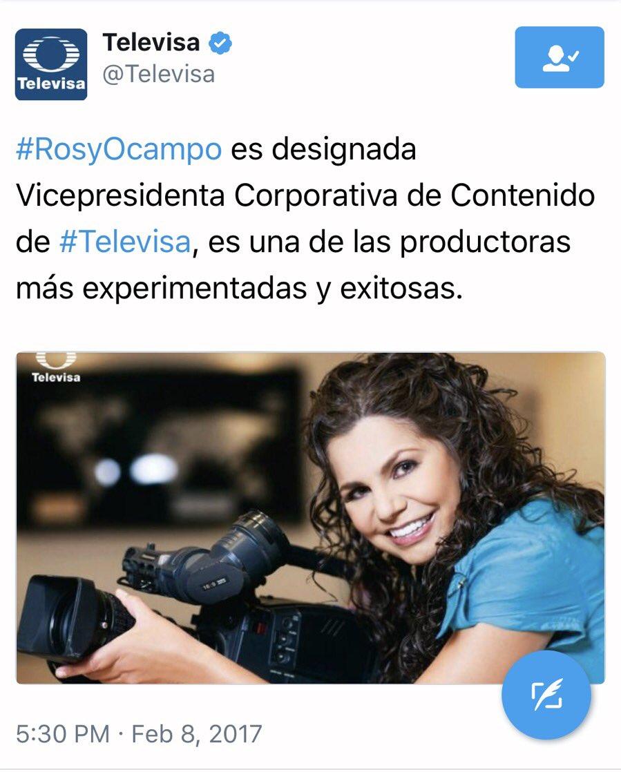 Muchas felicidades querida @RosyOcampo ... Bien merecido y ganado. Mil bendiciones para ti. https://t.co/ajhBgGQRn2