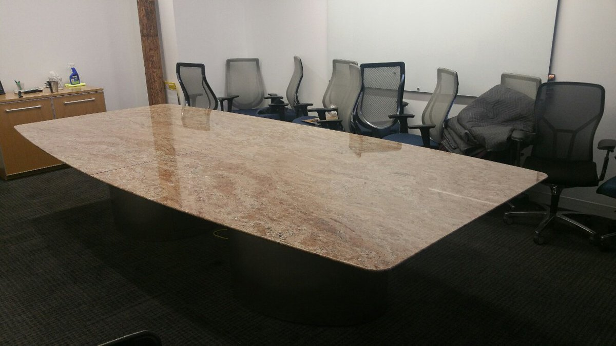 Louis W Mian Inc On Twitter Installing A Huge Granite - Granite conference table