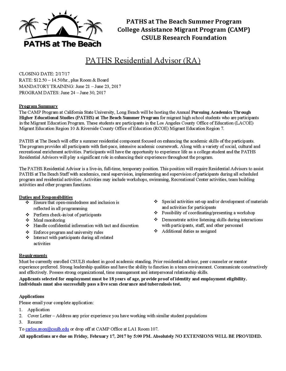 Resident Advisor Application Cover Letter Sample U2013 Cover Letter 2 September  15, ...