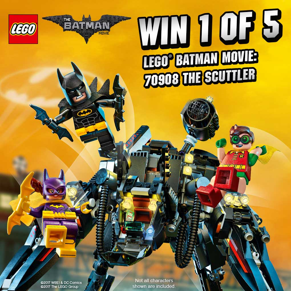 1 day until the #LegoBatman Movie! To celebrate, we're giving 5 people the chance to win the Lego Batman Scuttler. RT to enter! Ends 10 Feb