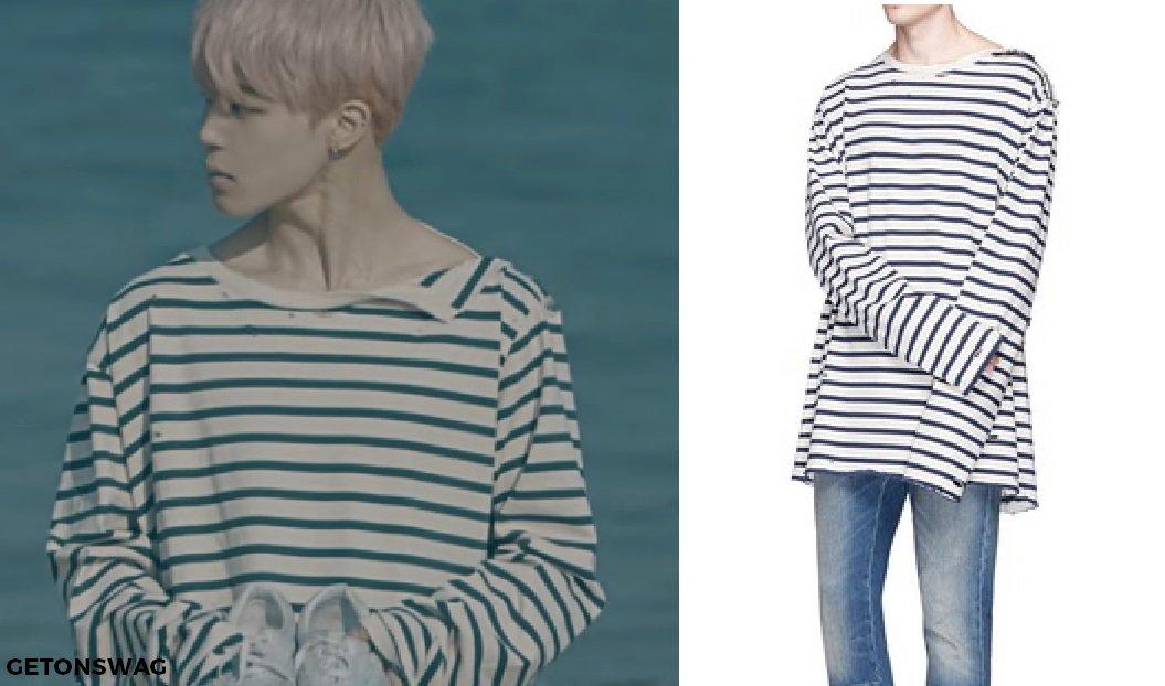 Striped Long Sleeve T Shirt Men
