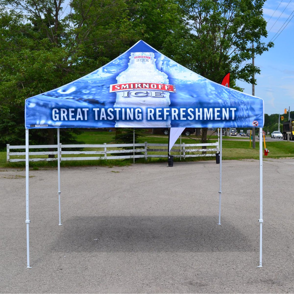 Have an event and need a tent? give us a call #softsigns #smirnoff #tents #event #eventplanning