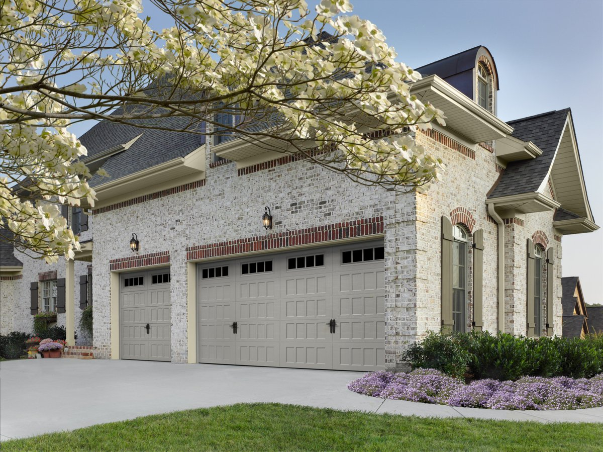 dura garage doors white bay with custom arch lite house east door carriage windows rw wood grade