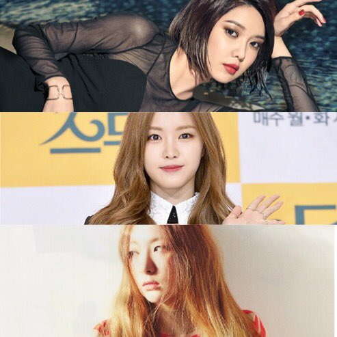 Happy birthday my loves! Hope you have the best day ever! Choi SooYoung - Son NaeEun -Kang SeulGi