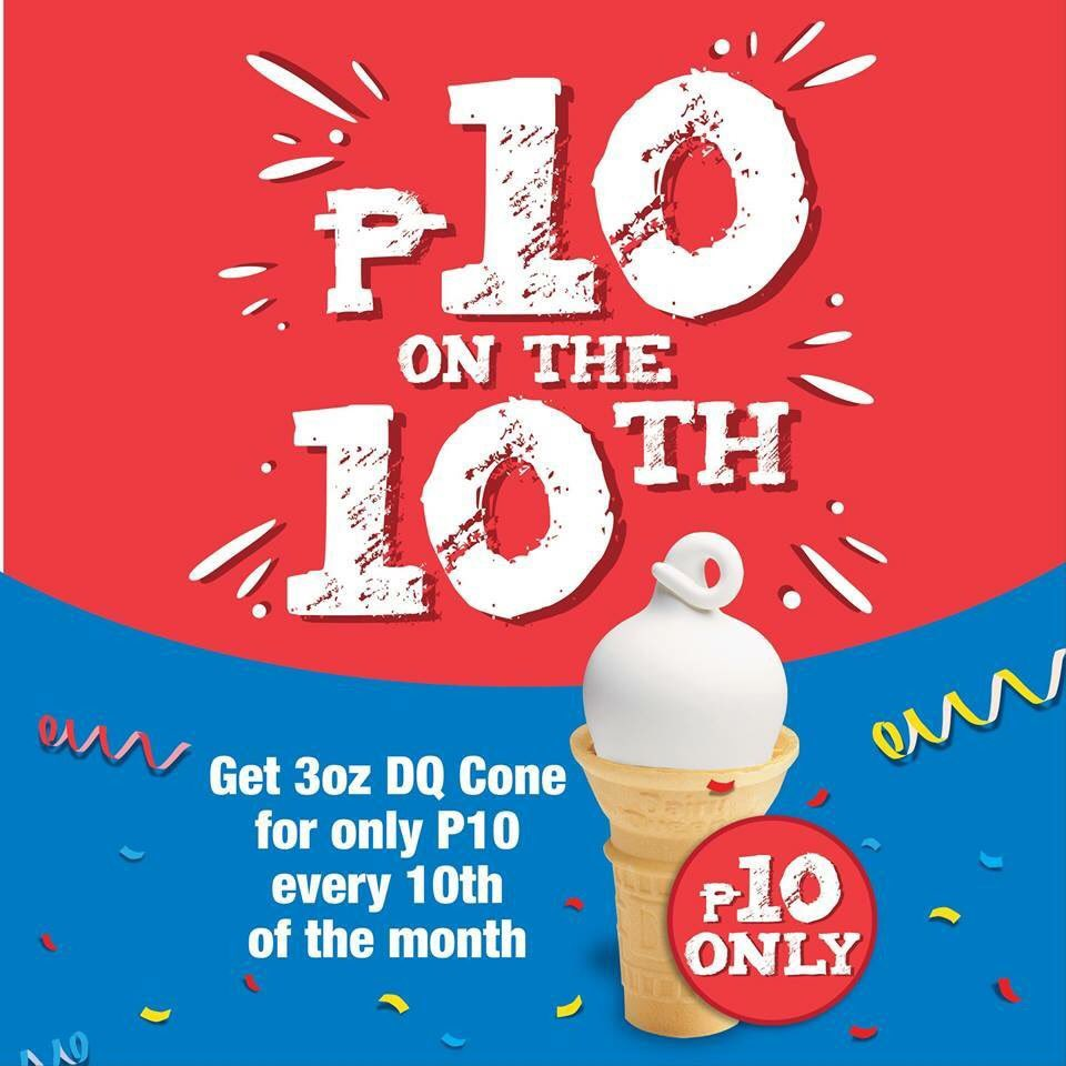 Yay! Today is the day! Bring your family & friends to #DairyQueenPH and treat them with our DQ Ice Cream Cone for ONLY P10. See you there! https://t.co/dJPA0lWgM6