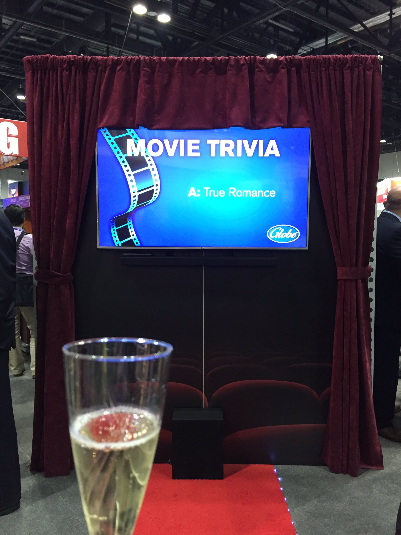 We had champs at the Globe booth on their red carpet at #TheNAFEMShow today! #ChampsIsOurFavorite https://t.co/hCZ3G6niaN