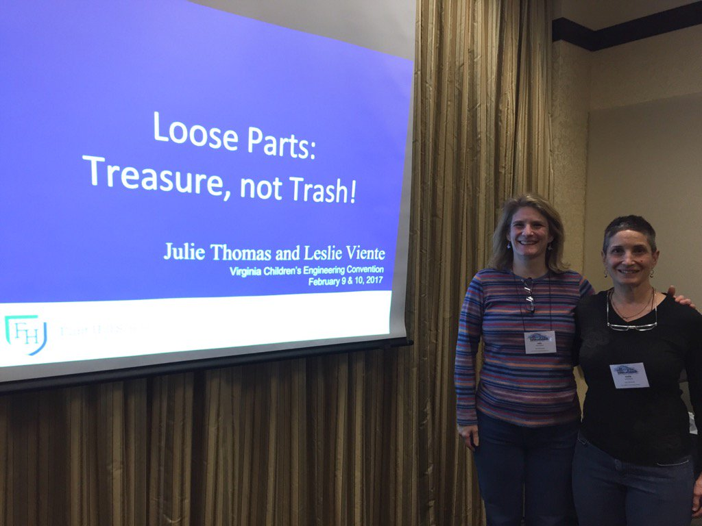 Our Loose Parts presentation at Virginia Children's Engineering Conf #myflinthill @childengineer https://t.co/9aropf77gy