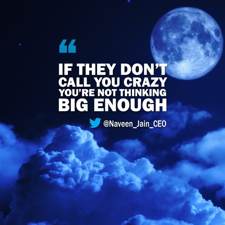 Think big, believe big, and the results will be big.  #ThursdayThought...