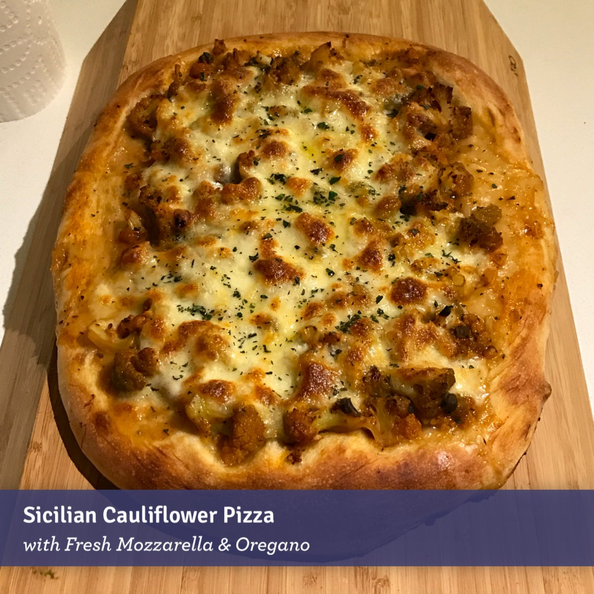 Blue apron cauliflower pizza - Patrick On Twitter Sicilian Cauliflower Pizza With Fresh Mozzarella Oregano Blueapron Https T Co Jxfurvnqhu