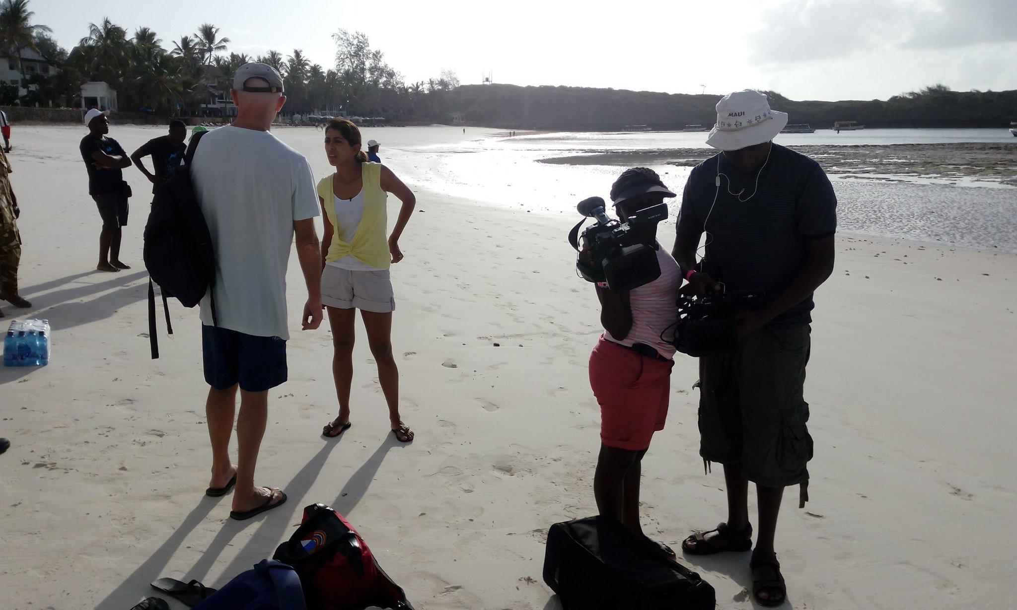#NTVWILD Team #OnLocation in #Watamu to film #dolphins 🐬 @SmritiVidyarthi @ntvkenya https://t.co/md6ch26O5s