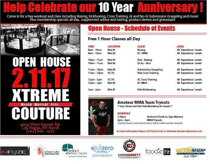 Xtreme Couture turns 10 this weekend and we're celebrating with free c...