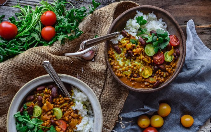 Kidney Bean and Lentil Curry [Vegan, Gluten-Free]