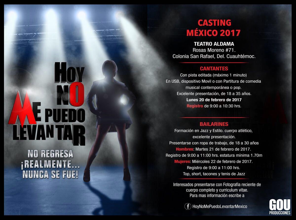 Casting @HNMPL_MX 2017.  No regresa. ¡Realmente... nunca se fue! https...