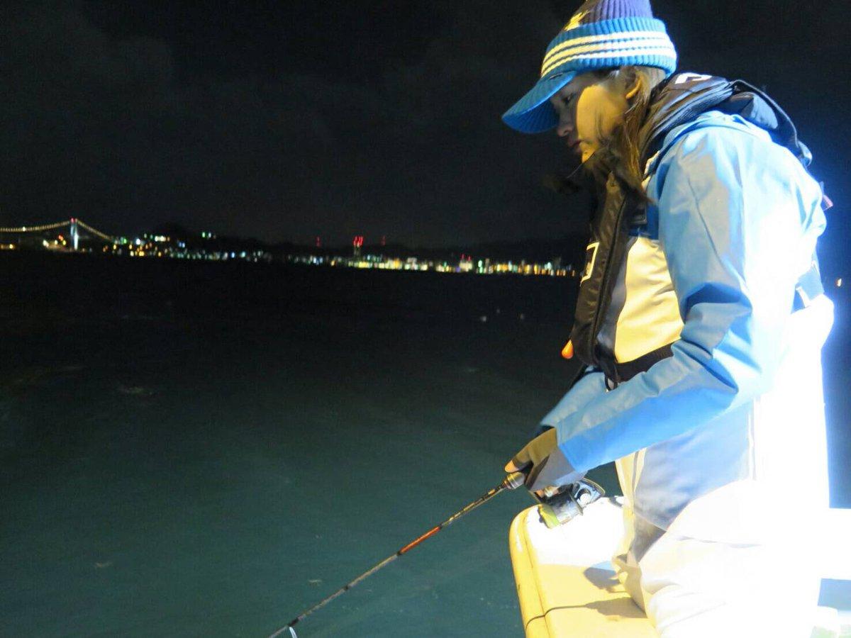 #週刊つりニュース西部版(2月26日号)のロケへ 今回は 夜釣り!寒波到来で体感温度はマイナスの世界…