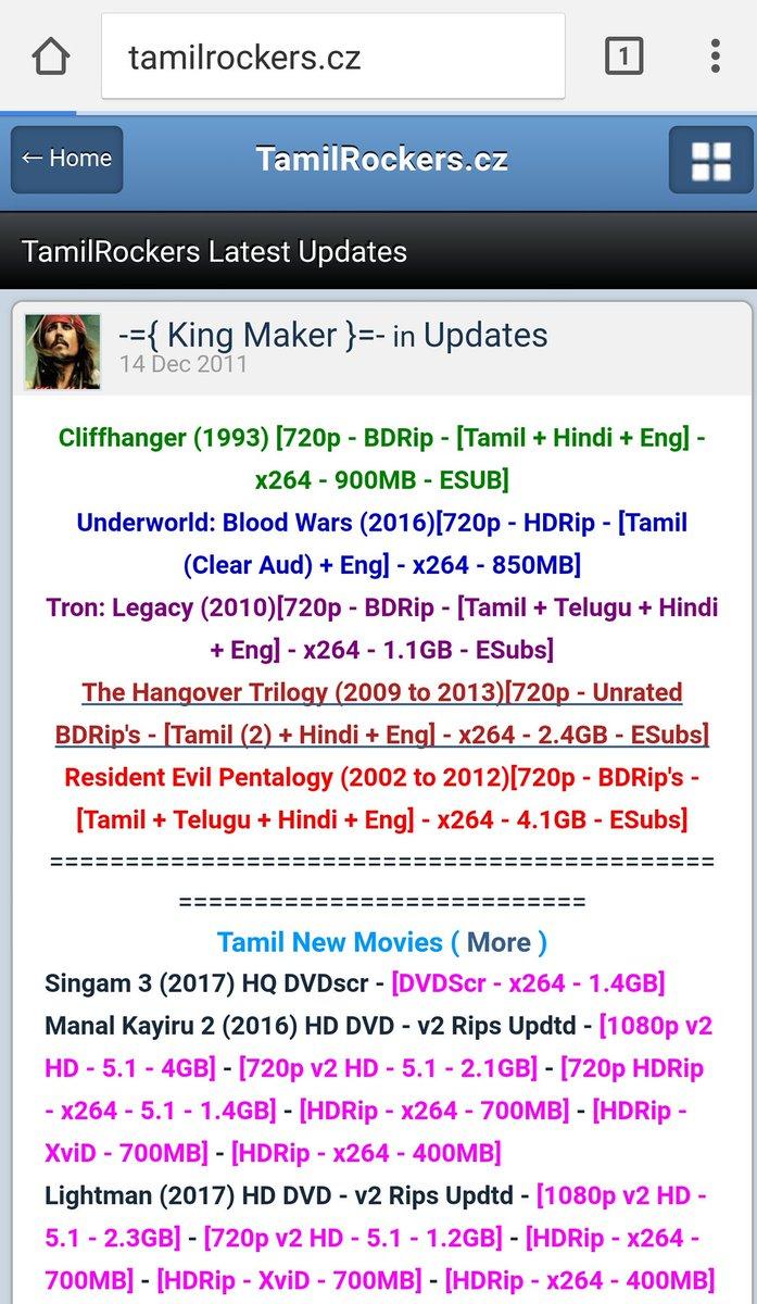 Tamilrockers Latest Link Today tamilrockers hashtag on TwitterTamil