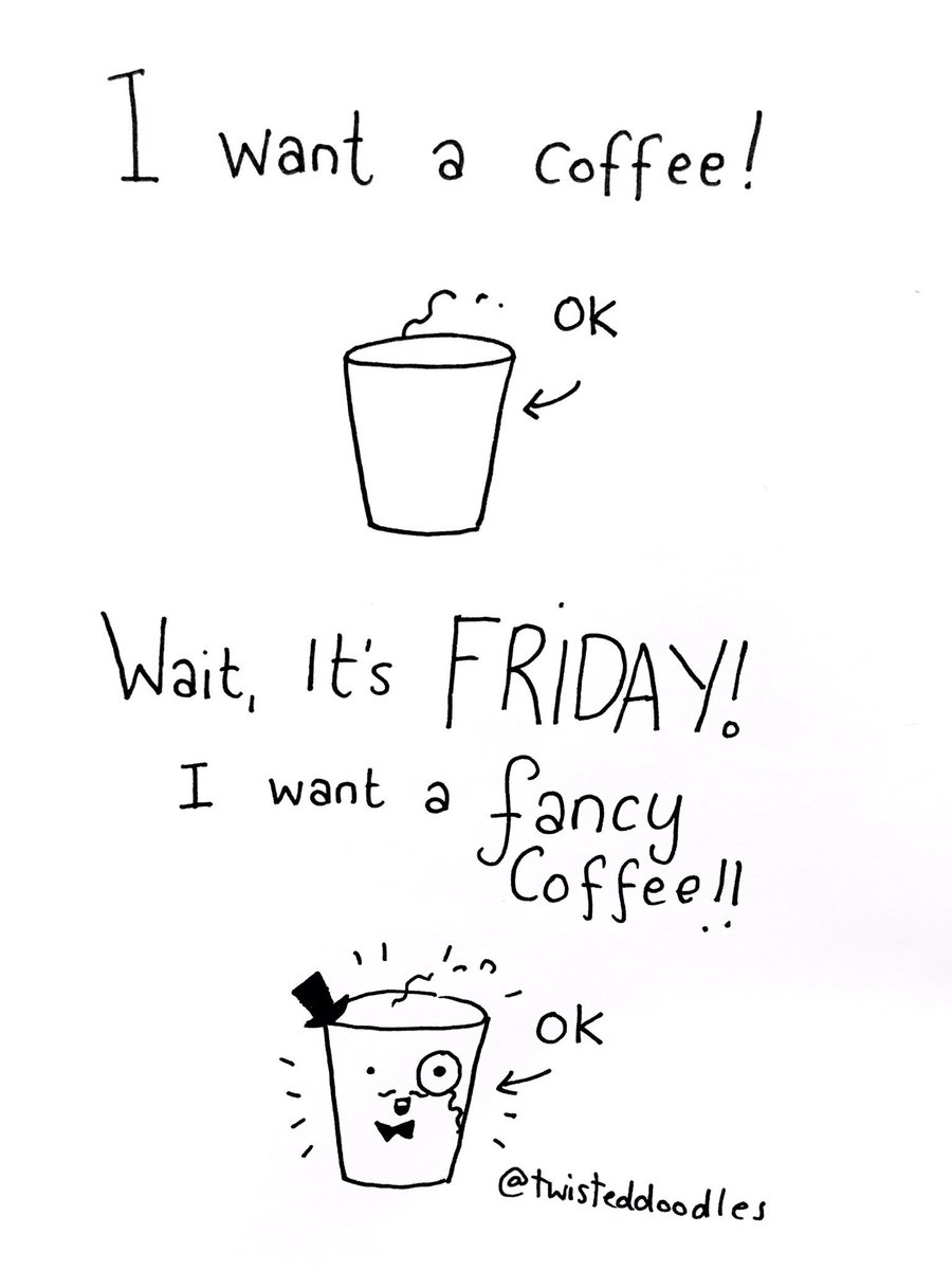 "TwistedDoodles on Twitter: ""Friday coffee! #FridayFeeling #coffee… "" #coffeeFriday"