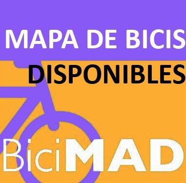 Mapa de disponibilidad de BiciMAD a tiempo real