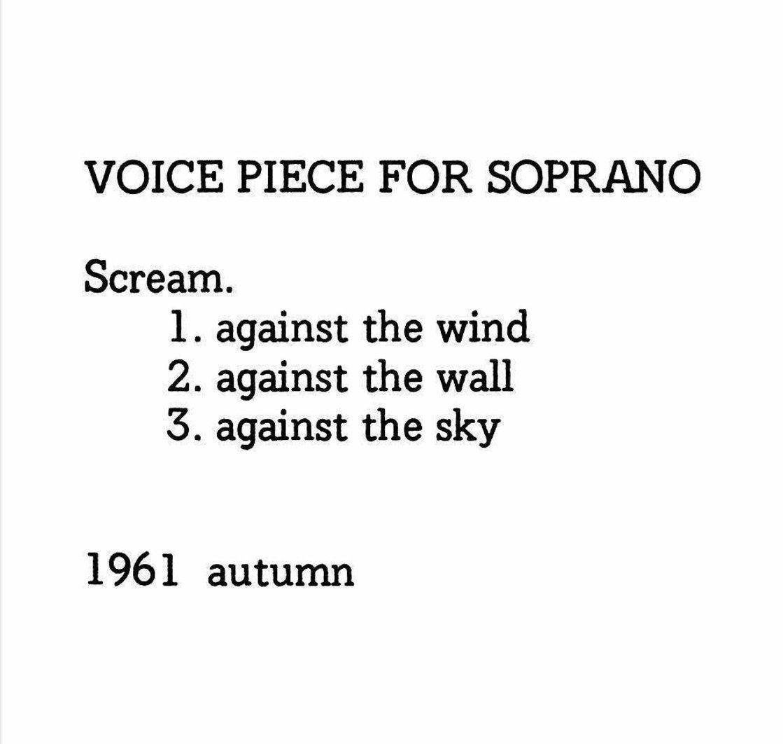 Voice Piece for Soprano, 1961