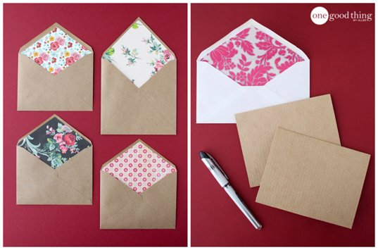 Customize Your Valentines With These Easy Lined Envelopes
