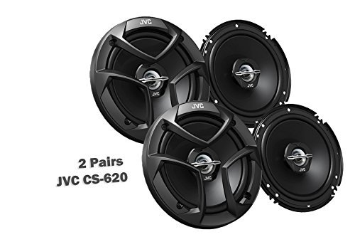"JVC CS-J620 6.5 300W 2-Way CS Series Coaxial Car Audio Speakers 6-1//2/"" PAIR"