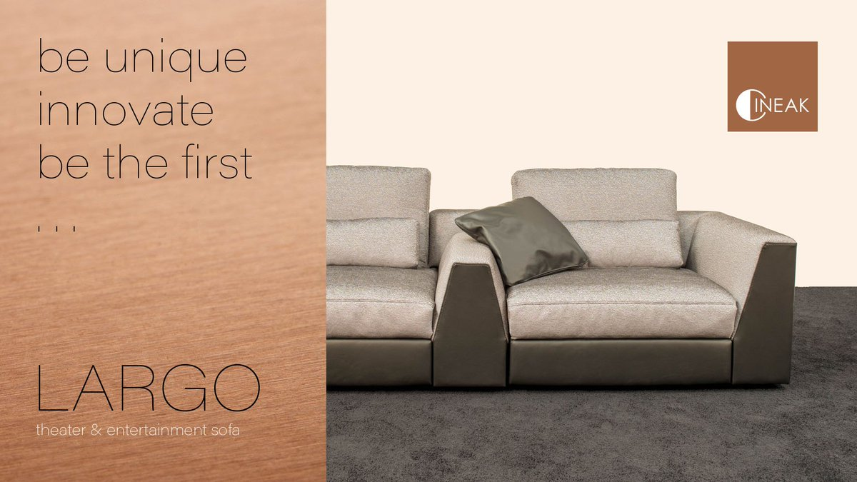 Cineak On Twitter Introducing Our New Largo Theater And Entertainment Sofa Ise Show Innovate Design Lifestyle
