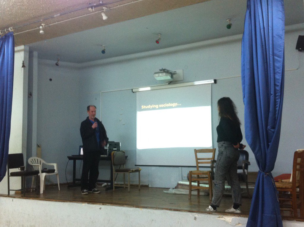 @milton_damian giving a presentation at the special school of children with autism in Piraeus #TAEAthens @UoBAutism https://t.co/IMO2J7wq9K