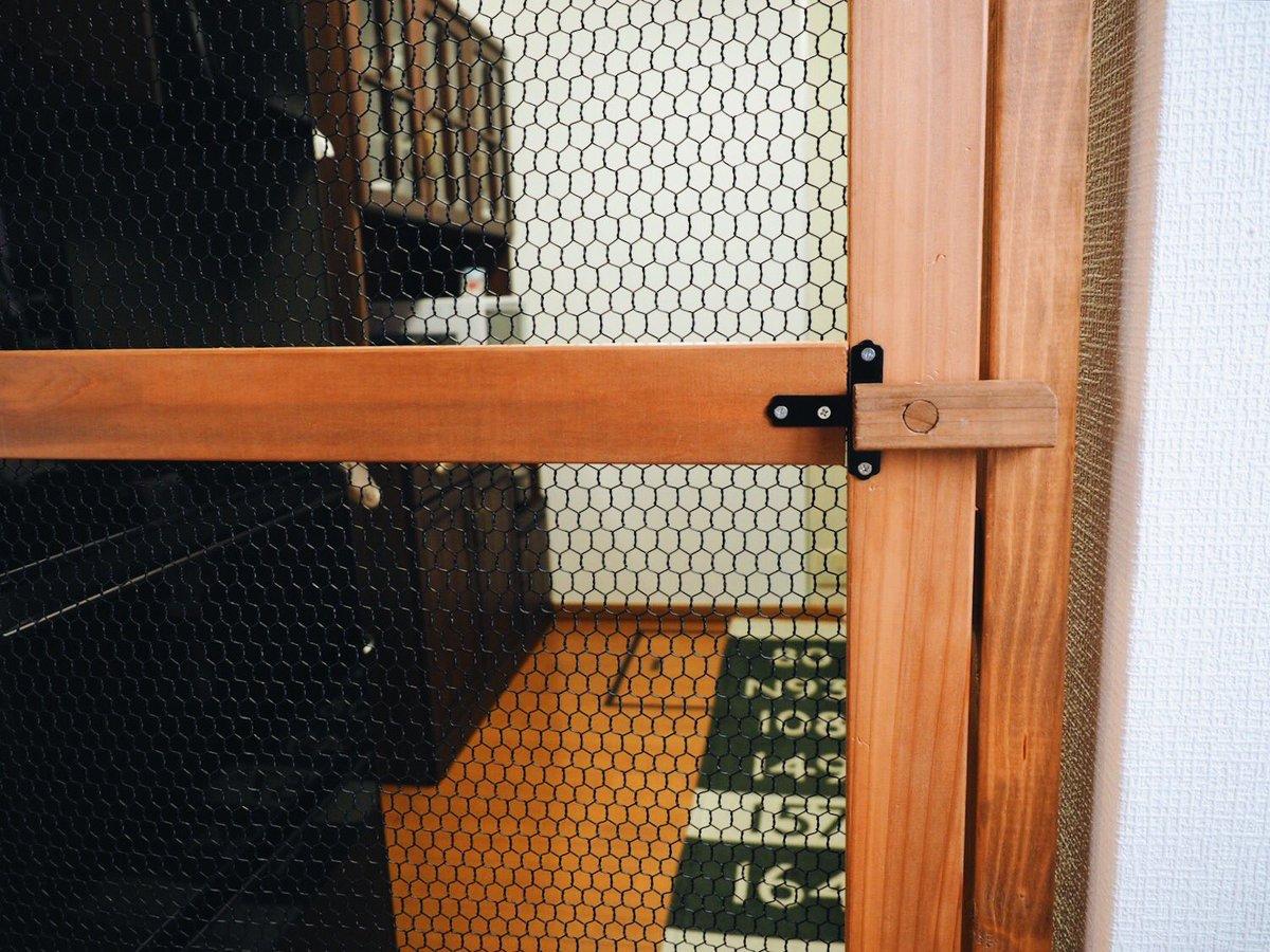 猫侵入防止用の扉を作った結果wそこから入るのかよっていういか入れてないwww