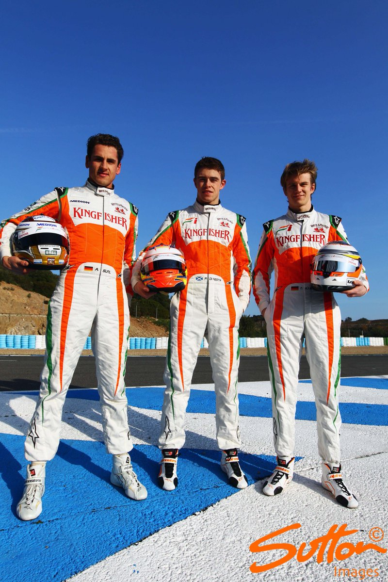 OnthisDay 2011 Paul Di Resta Adrian Sutil Nico Hulkenberg Launch The New Force India F1 VJM04 Jerez Spainpictwitter WuXvVn2QfQ