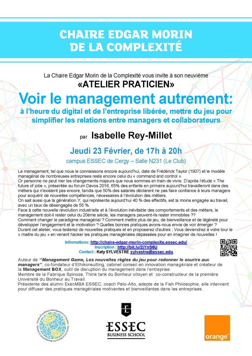RDV la semaine prochaine avec @isareym  #Management #Ethique #Digital #BonheurAuTravail INSCRIPTION :  http:// bit.ly/2jYnS6U  &nbsp;  <br>http://pic.twitter.com/bZNpO4K0d4
