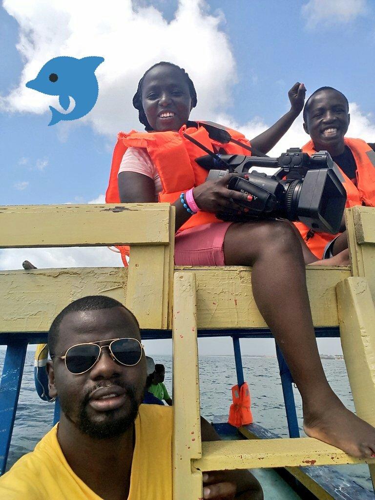 Behind the scenes w/ #NTVwild crew @janegatwiri3 @ontita_vincent of @wildlifedirect  in search of 🐬💧🎥 at the Watamu Marine Park https://t.co/diz6xfPBJG