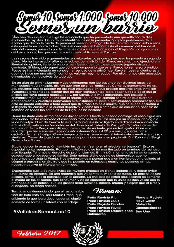 SOMOS 10, SOMOS 1.000, SOMOS 10.000. SOMOS UN BARRIO. #VallekasSomosLos10 https://t.co/dox8EV9cvo