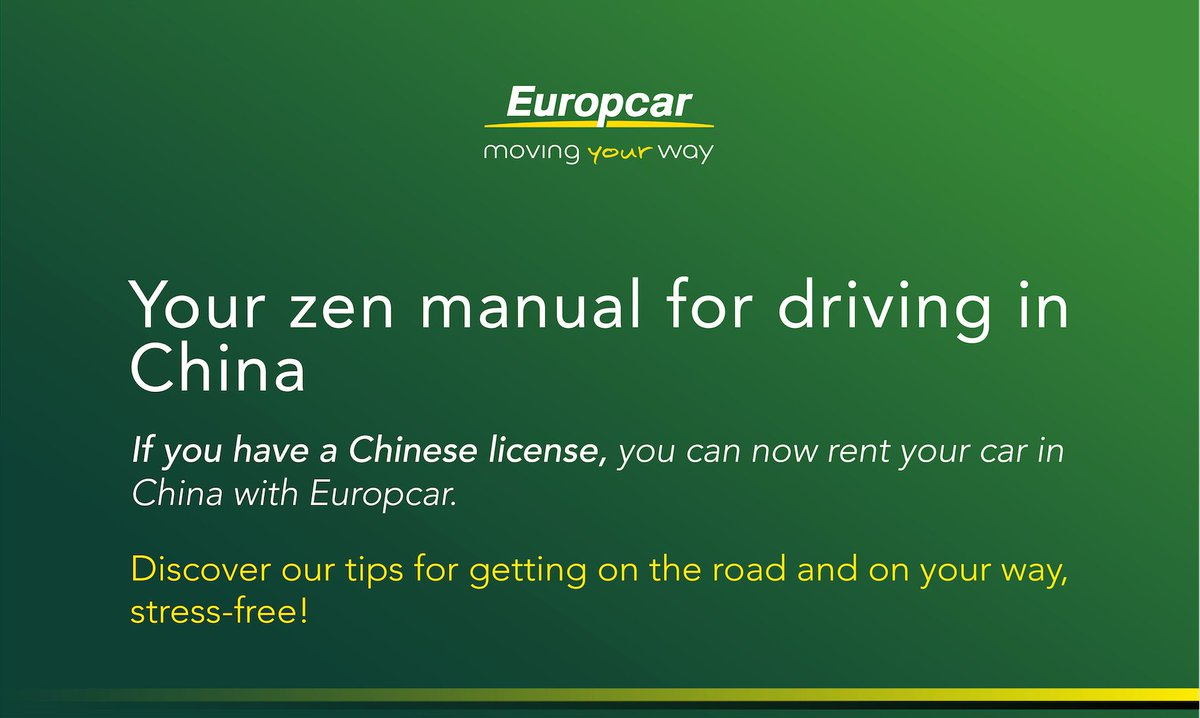 Europcar Uk On Twitter Read Our Zen Manual To Drive In China To