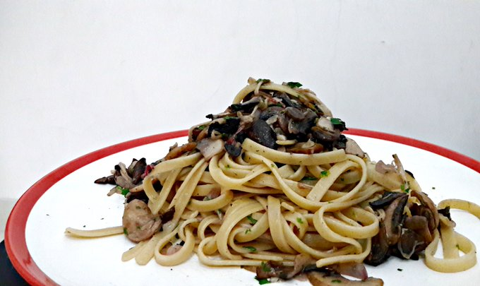 Recipe #16 Fettucini With Mushroom
