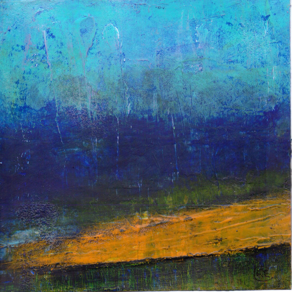 &#39;Whin Flooer Brae&#39; by @feclarkart 2014, Acrylic on paper, 5&quot; x 5&quot;, available:  https://www. etsy.com/uk/listing/216 527805/whin-flooer-brae-daily-painting-28th?ref=shop_home_active_33 &nbsp; …  #painting #Scottishartists #whins<br>http://pic.twitter.com/xc4bR4FTCm
