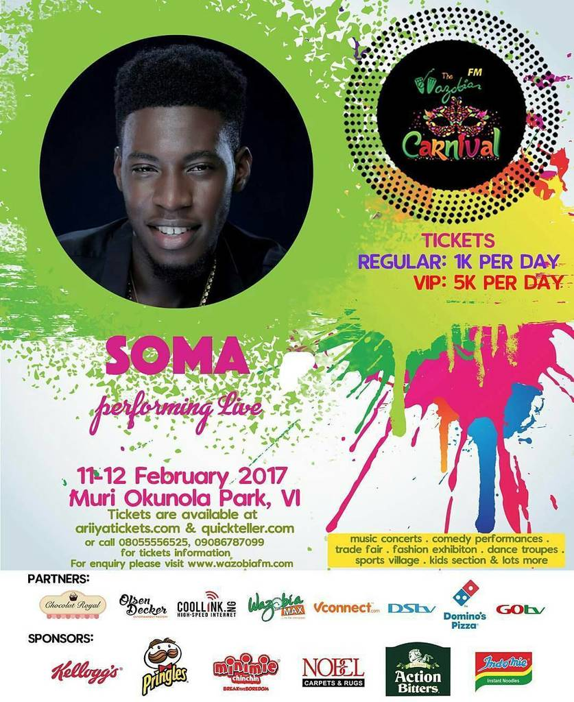 Big brother Naija evicted House Mate Soma released is song this week and he is already getting some interesting Gigs,